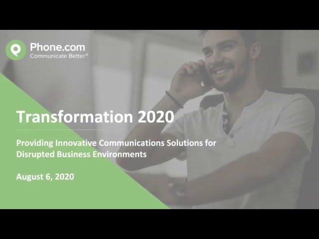 Phone.com - Transformation 2020