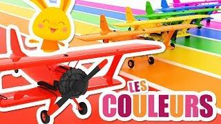 Les couleurs avec les avions - véhicules - Chansons et comptines Titounis