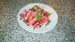 Салат Щётка из корнеплодов для очищения желудка / RAW
