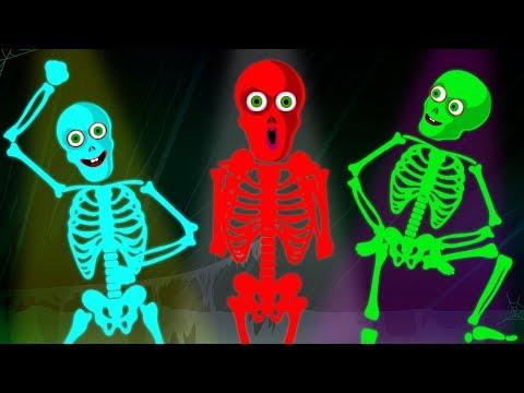 Five Funny Skeletons Changing Colors | Funny Nursery Rhymes for Kids by Hoopla Halloween