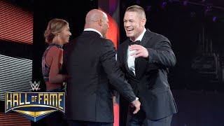 Kurt Angle is welcomed home to WWE by John Cena: WWE Hall of Fame 2017 (WWE Network Exclusive)