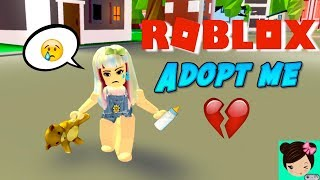am baby y Mi Papa me leaves in ROBLOX Adopt me 🎀 Titi games Roleplay