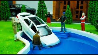 Макет города своими руками для машинок моделек. Сделал бассейн, благоустроил дом мэра. Про машинки!