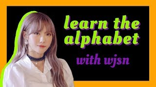 learn the alphabet with wjsn