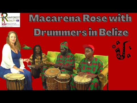 Macarena Rose with her friends Boombay, Emmeth- Drummers in Belize - Part 2