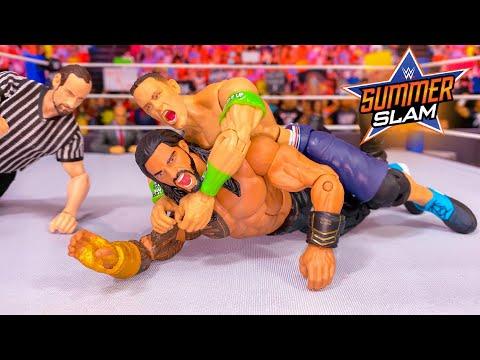 ROMAN REIGNS VS JOHN CENA SUMMERSLAM WWE UNIVERSAL CHAMPIONSHIP ACTION FIGURE MATCH!