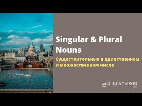 Английский язык I Единственное и множественное число имен существительных I Singular & Pllural Nouns