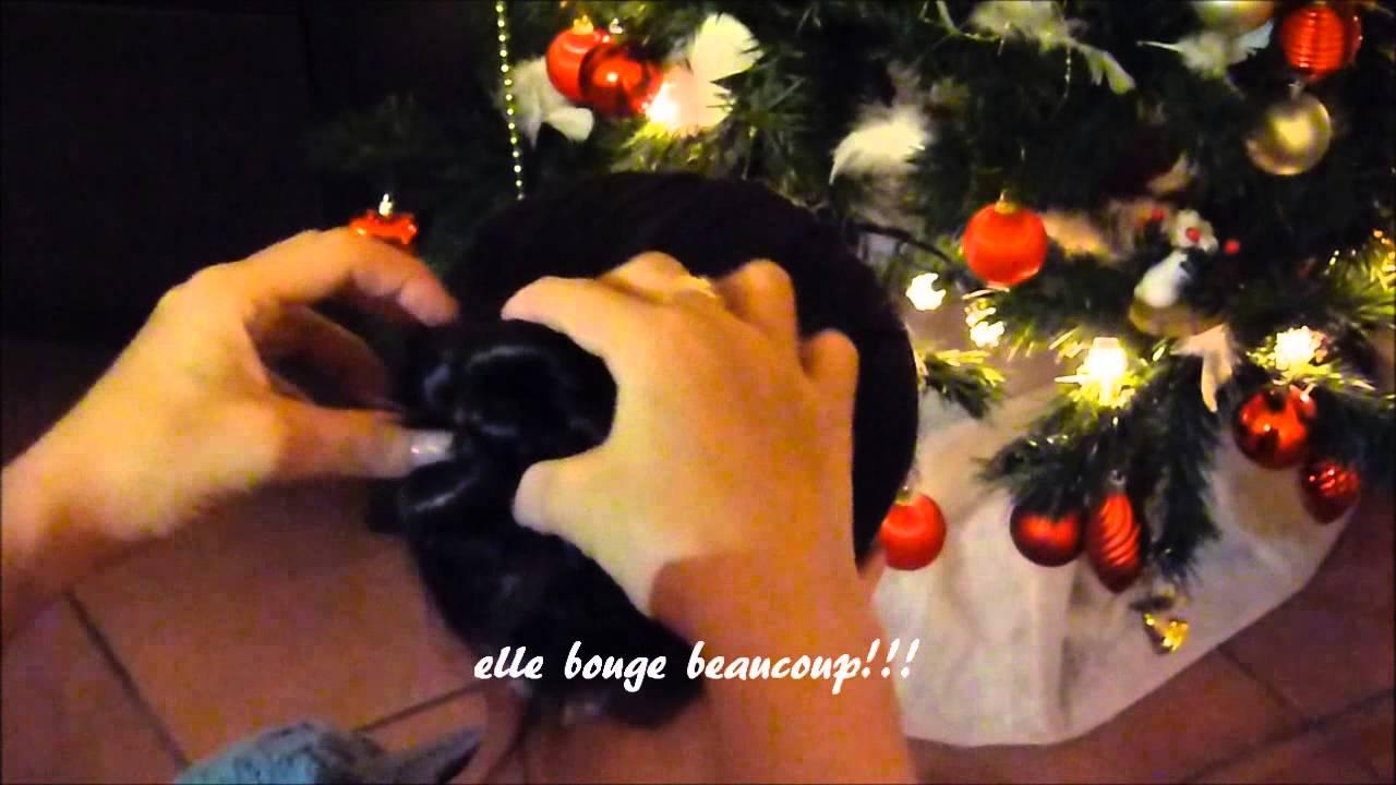 chignon fleur - YouTube
