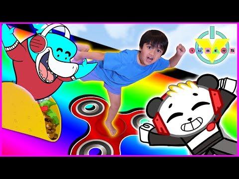 RYAN plays Roblox Slide Down + Get Eaten Games vs. Mommy & Combo Panda