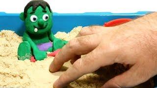 Superhero sand funny cartoon 💕 Play Doh Stop motion videos