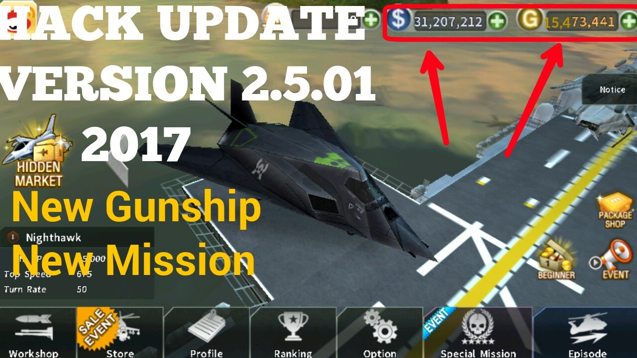 gunship battle hacked version