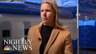 Biometric Scanning Now More Widely Available, Speeding Security Lines | NBC Nightly News