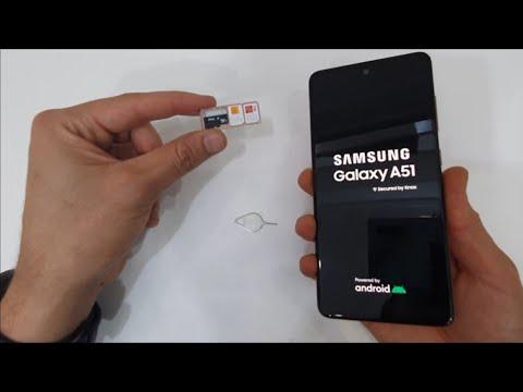 INSERT SIM & SD CARD Samsung Galaxy A51, A21, A31, A41 (Dual SIM) 2020