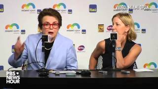 Billie Jean King on equal pay in tennis
