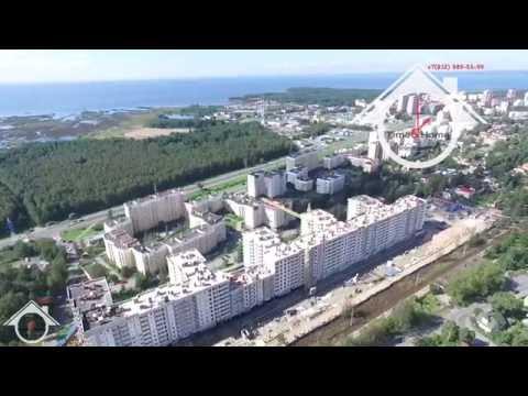 Видео-обзор с высоты г. Сестрорецк, Приморское шоссе, Финский залив, Сестрорецкий разлив