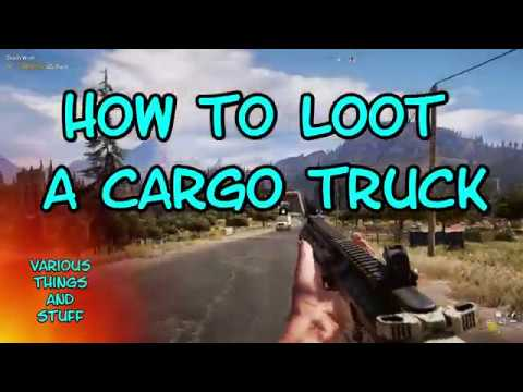 Far Cry 5 Looting Cargo Trucks