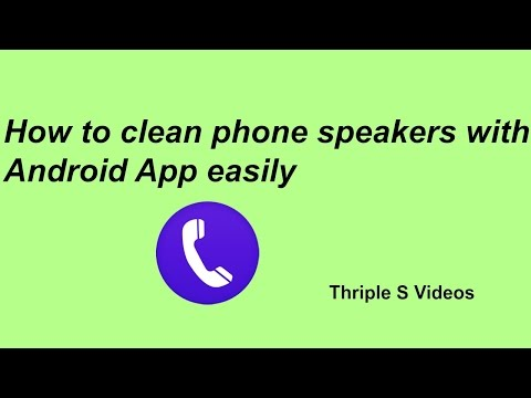 """How to clean phone speakers with android app"""" """"Speaker Clean"""" easily"""