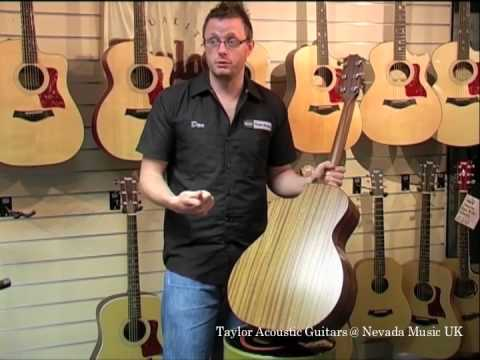 taylor acoustic guitars shapes sizes woods and tone youtube. Black Bedroom Furniture Sets. Home Design Ideas