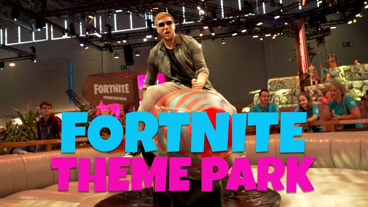 Fortnite Theme Park Tour - Gamescom 2018