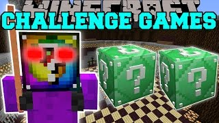 Minecraft: AZKOR THE QUESTIONABLE CHALLENGE GAMES - Lucky Block Mod - Modded Mini-Game