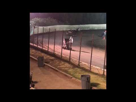 Smokin Sammy Strange raved his heart out in the B main of the 250 outlaw cage cart race. - dirt track racing video image