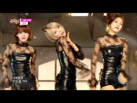 [HOT] AOA - Like a Cat, 에이오에이 - 사뿐사뿐, Show Music core 20141206