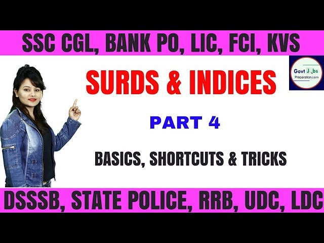 Surds And Indices Methods & Shortcuts Tricks - Very Important Questions For SSC & Bank Part 4
