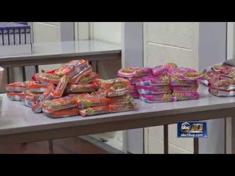 Ending Hunger sorts K.I. Sawyer Spring Break Packs