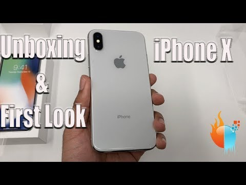 Apple iPhone X Silver Unboxing and First Look