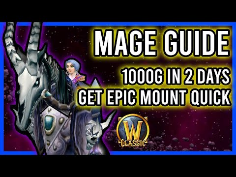 WoW Classic Gold Grinding With Mage - 1000 Gold Quick! AOE Farming Guide - 2 Great AOE Spots!