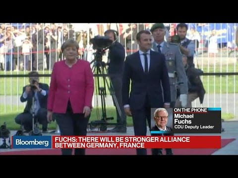 CDU's Fuchs Sees Macron as Good Partner for Germany