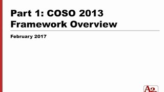 #91   COSO 2013 Part 1 - Framework Overview