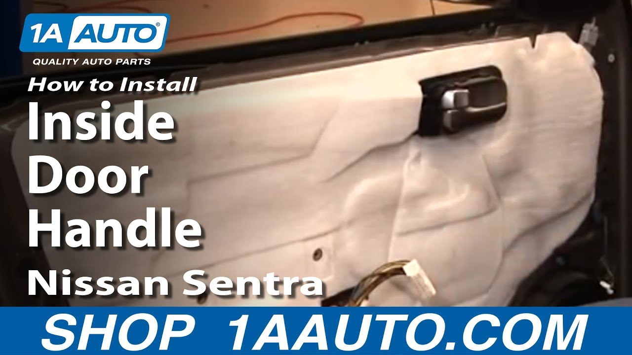 How to install replace inside door handle nissan sentra 04 - Installing a lock on a bedroom door ...