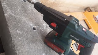 HOW To Drilling In Concrete With  Cordless Rotary Hammer METABO KHA 18 LTX