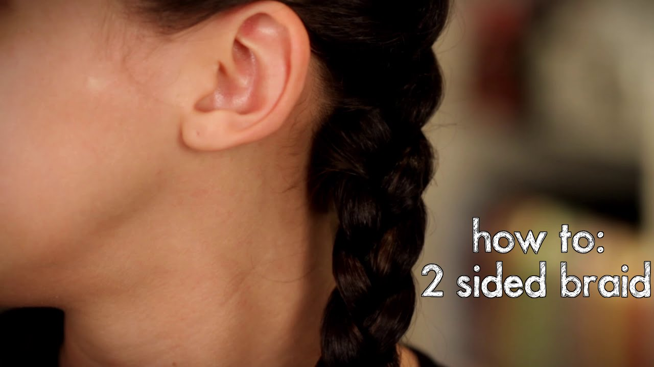 How To Easy Two Sided Braid Simple And Easy Braided