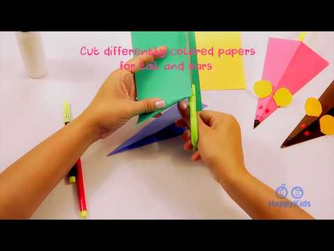 Origami Mouse | Paper Crafts | Kid's Crafts And Activities | Happykids DIY