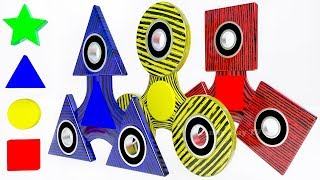 Learn Colors with 3D Fidget Spinners for Kids | Learn Geometric Shapes with 3D Fidget Spinners