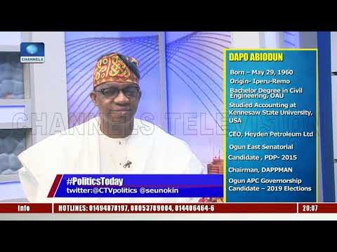 I Remain The Valid Candidate Of APC In Ogun State - Dapo Abiodun |Politics Today|