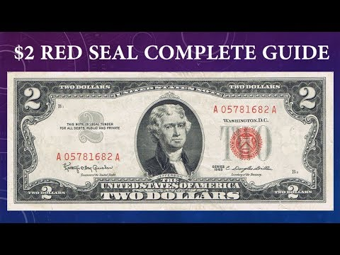 Lot of 50 $2 Bills Red Seal Notes 1953 /& 1963 Well Circulated Two Dollar