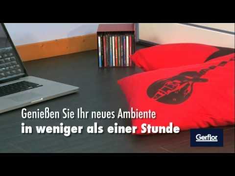 Gerflor selbstklebende vinyl bodendielen youtube