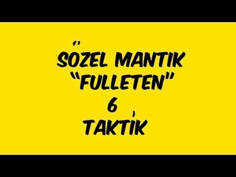 31 - SÖZEL MANTIK - 1 - AKER KARTAL