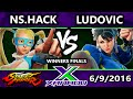 F X 153 NS.Hack R.Mika Vs. CU Ludovic Chun Li SFV Winners Finals Street Fighter V