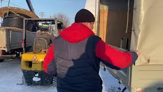 Снегоболотоход Рм650-2 русская механика, привезли для Клиента. Квадрик с прицепом как приходит