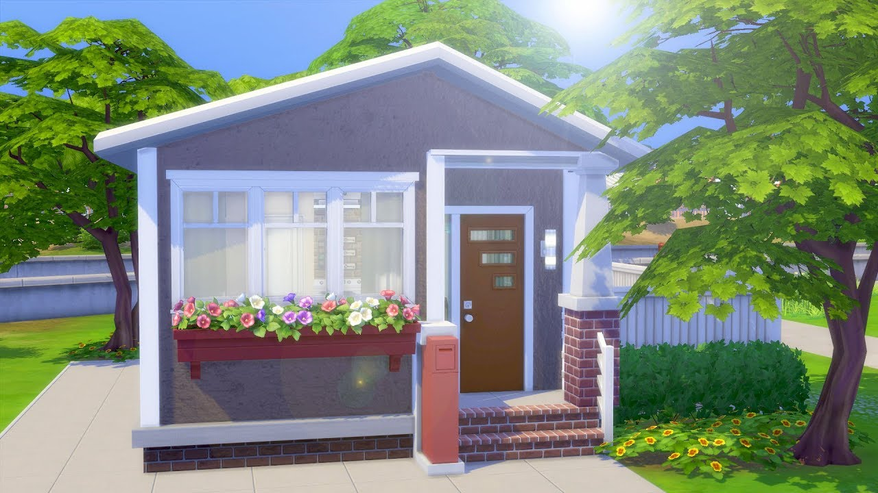 5x5 Tiny Home Challenge The Sims 4 Speed Build Youtube