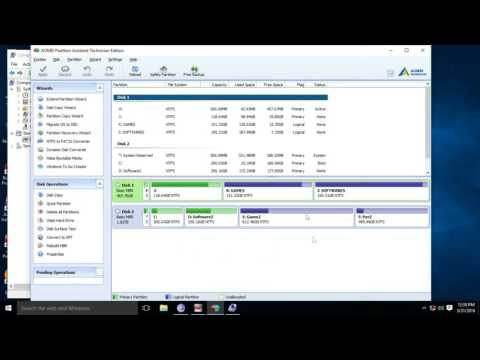 How To | Convert Primary Drive To Logical Partition  | Without Losing Data | 2016