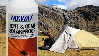 Tent Care- Waterproofing and UV Protection