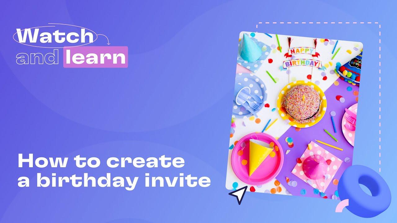 how to create a birthday invite