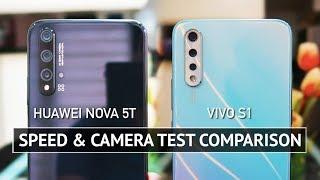 Huawei Nova 5T vs Vivo S1 SPEED and CAMERA TEST