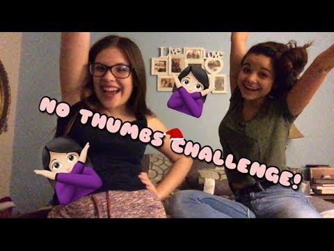 NO THUMBS CHALLENGE! || Genna Jones