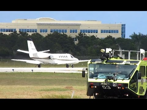 Venezuelan Citation 550 Takeoff from Ft. Lauderdale Executive (FXE)